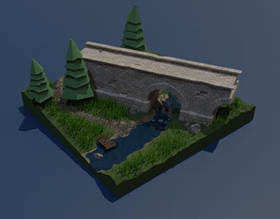 Bridge diorama