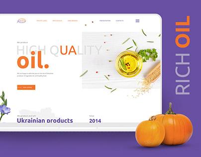 RICH OIL — Branding, Booklets, UX/UI, Development