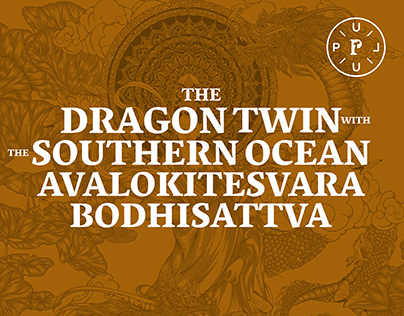 BODHISATTVA AND TWO DRAGONS
