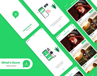 Whatsapp Status Saver App design
