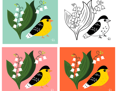 Lily of the Valley Goldfinch