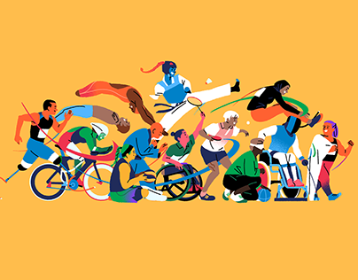 Paralympics Tokyo 2021 - Adobe - Illustration