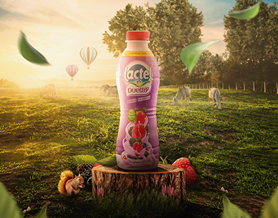 Lactel Poster l Duetto mix berries