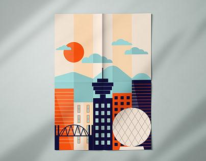 Vancouver cityscape poster