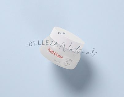 Arte para Fotografía campaña Belleza Natural · Paris.cl