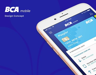 BCA Mobile Banking - Redesign concept
