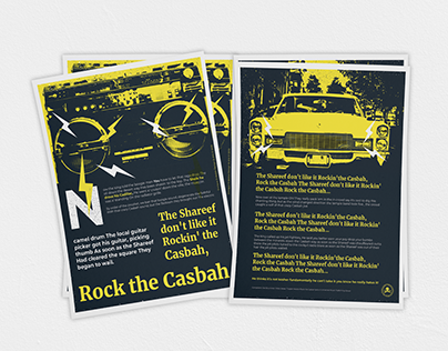 The Clash lyrics inspired posters series