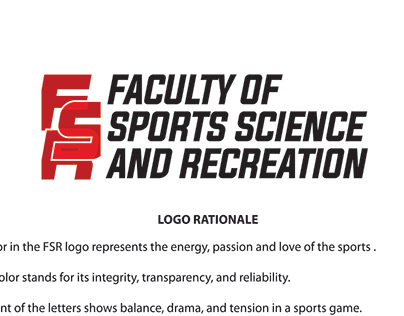 Logo; Faculty of Sports Science and Recreation