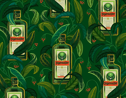 Jägermeister Wallpaper and Pattern Design