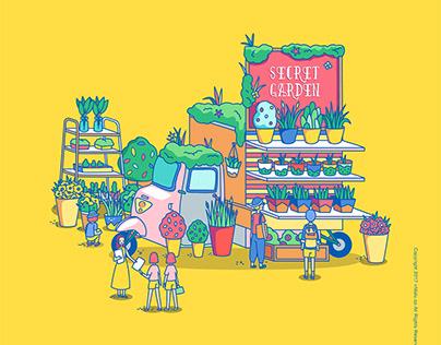 Food truck illustrations 城市车铺 系列插画