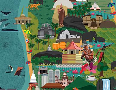 The Beauty of Sri Lanka - Illustrations