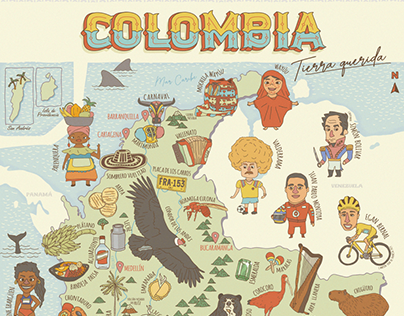 ILLUSTRATED MAP OF COLOMBIA
