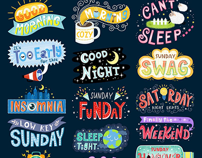 Hand Lettering Stickers for Snapchat