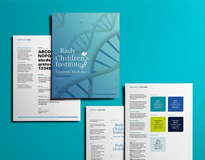 Rady Children's Institute of Genomic Medicine Branding