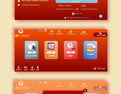 Rummy App Design