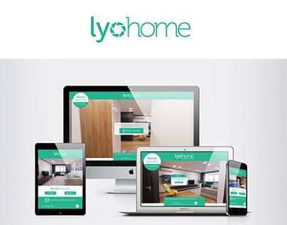Identité visuelle et site teasing - Lyohome Portfolio