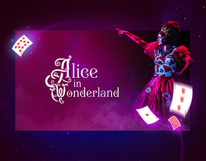 Alice in wonderland. Landing page.