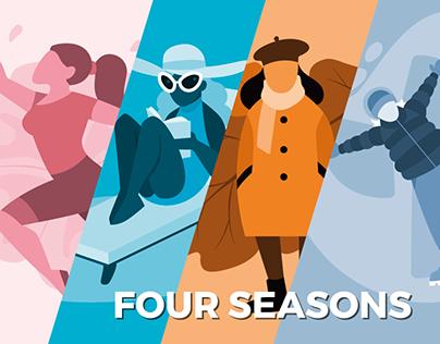 Four seasons illustrations