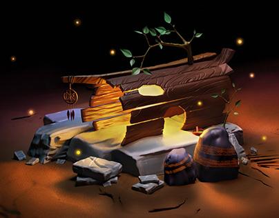 The shaman's house.