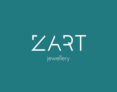 Logo and branding for ZART jewellery
