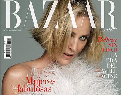 Sharon Stone - Harper's Bazaar España November 2019
