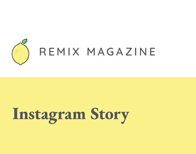 Remix Magazine Instagram