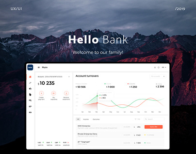 UI/UX Bank System