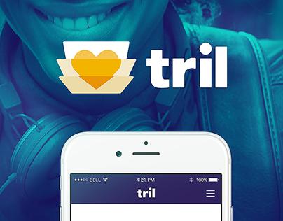 Tril Branding + UX/UI App + Website