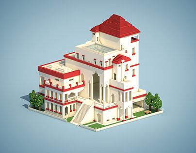 平行世界的小建筑-C4D