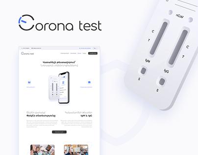 CoronaTest: Website & shop for COVID-19 testing service