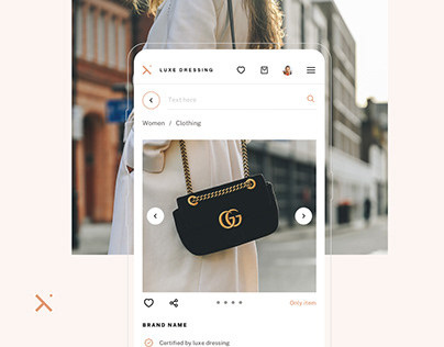 Luxe Dressing — Ecommerce Design