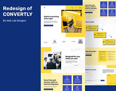Redesign of Convertly.com