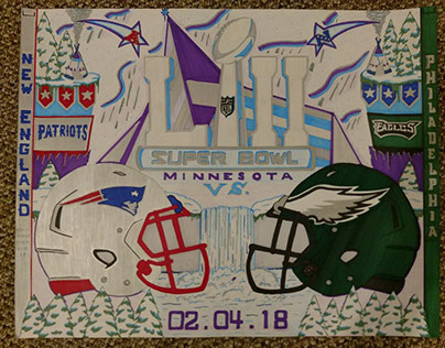 Super Bowl 51 & 52 posters