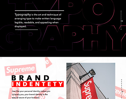 Landing page for web designer