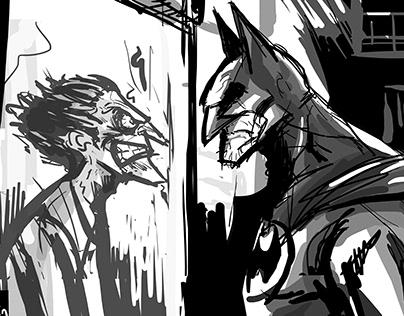 my reflection - batman and joker
