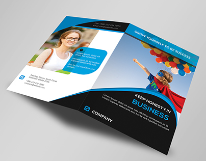 Corporate Bi-Fold Business Brochure Template