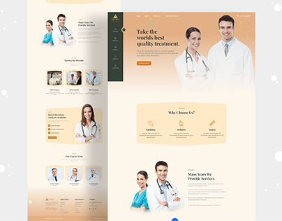 Healthcare & Medical Consultant Website Landing Page