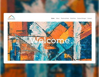 Artist's Hostel - UI Website Design