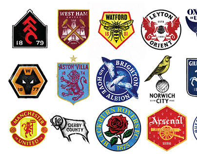 Vintage Re-Imaginging Football Crests