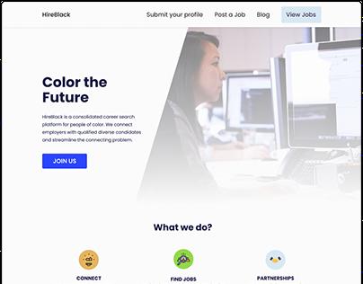 HireBlack Website UI Design