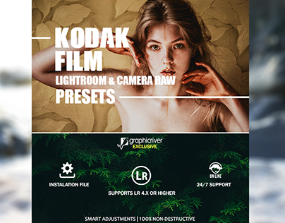 26 Kodak Film Lightroom & Camera RAW Presets 2017