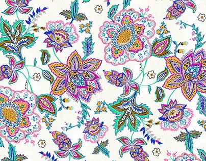Hand-painted Sarasa Floral Prints
