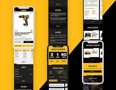 Sitio DEWALT - Propuesta Diseño UI UX [para M8 Agency]