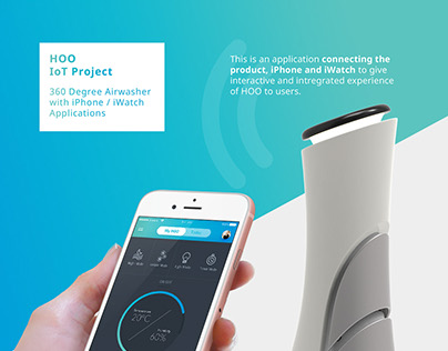 360-degree Airwasher, HOO with iPhone/iWatch app