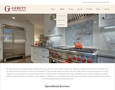 GERETY Homepage Redesign
