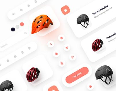 Helmet Selling App Concept Design