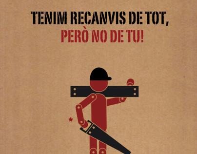 """Cartel Ganador  """"A la feina cap risc"""" de la Generalitat"""