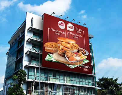 chiken world billboard