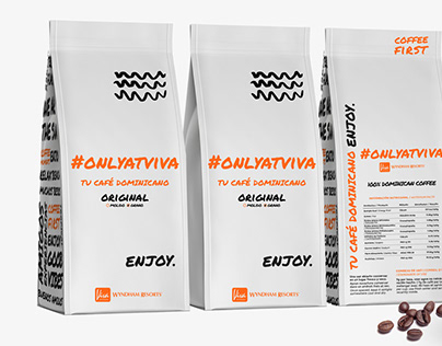 #onlyatviva coffee packaging