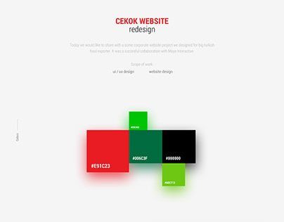 Cekok website redesign
